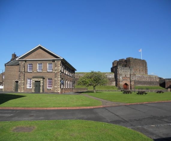 02 Alma Building In Relation To Carlisle Castle Inner Ward