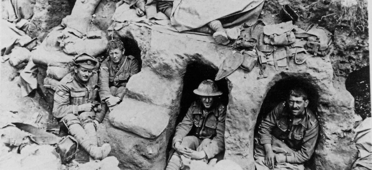 8th Battalion In Trench On The Somme Full With Bloke