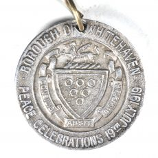 CALBR 4562 Borough Of Whithaven Peace Medal Reverse