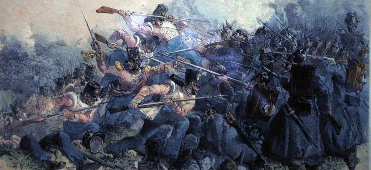 55th Crossing Bayonets With