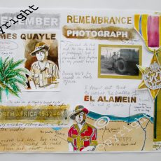 030 James Quayle - Miner/Solider Mixed Media by Di McGhee