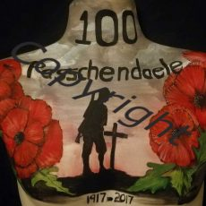036a Passchendaele Photograph of body painting by Ann Holmes