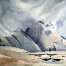 047 Making For Gable Remembrance Day Water Colour by John Birney