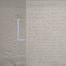 012 Uncle Harold's Towel Object and Letter by Dorothy Ramsay