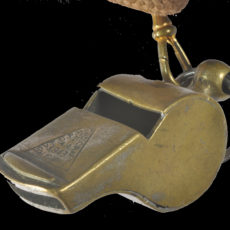 CALBR2054 Whistle carried by Lieutenant Tom Turner, 'C' Company 2nd Battalion Border Regiment
