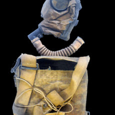 CALBR213 1+2 WW1 British Box Service Respirator Gas Mask 1916 18 Pattern And Canvas Carrying Case BLACK